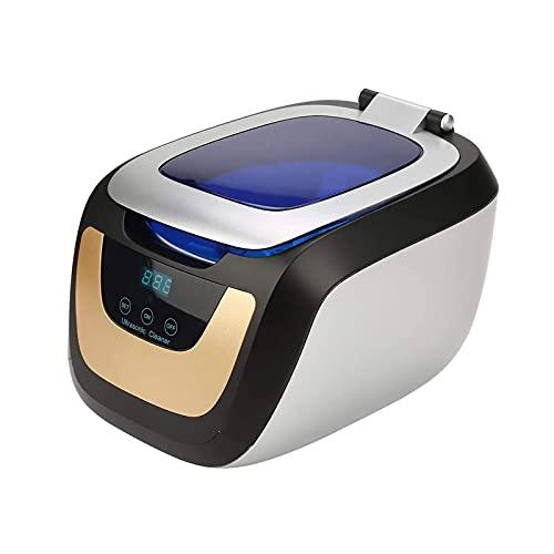 HENGSEN Ultraschallreiniger, Digitales Ultraschallreinigungsgerät Mit LED Beleuchtung Zahnspangenreinigung Ultraschallgerät Für Brille CDs DVD Schmuck Uhren E-Zigarette,Silber