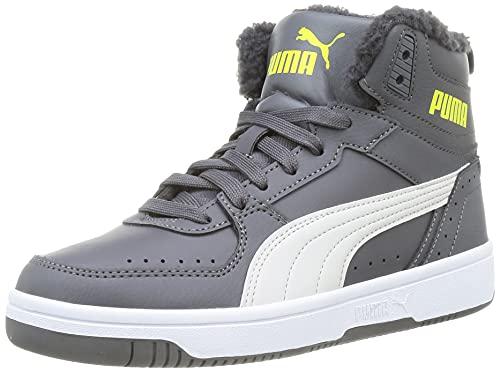 PUMA Rebound Joy Fur Jr Sneaker, Castlerock, 39 EU