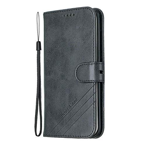 Hülle für Galaxy S7 Edge Hülle Handyhülle [Standfunktion] [Kartenfach] [Magnetverschluss] Tasche Etui Schutzhülle lederhülle klapphülle für Samsung Galaxy S7Edge/G935F - JEHX010249 Schwarz