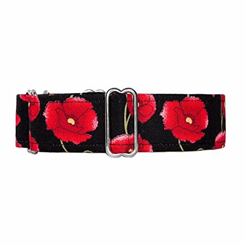 Noddy & Sweets Martingale Collar [Scarlet Poppy] – Pequeño 3,8 cm de ancho