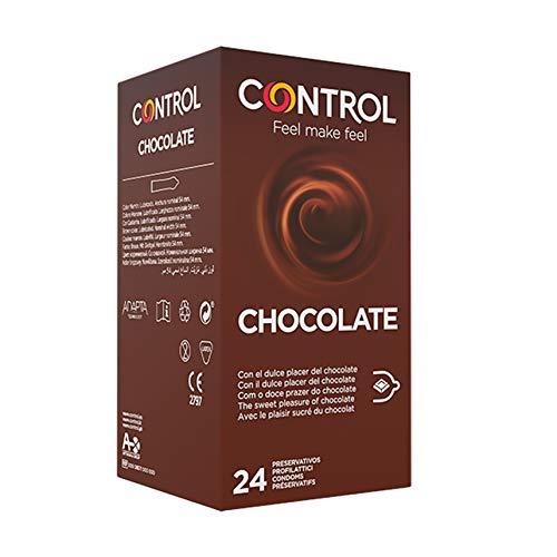 Caja de condones con aroma y sabor a chocolate