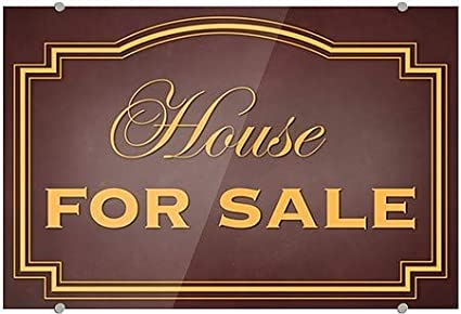 36x24 Classic Brown Premium Brushed Aluminum Sign House for Sale CGSignLab