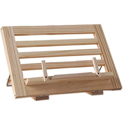 Atril Musica YNDHD Soporte de estantería de lectura de marco de madera - Soporte de música Caballete de dibujo de mesa de madera 34 * 24 cm color de madera