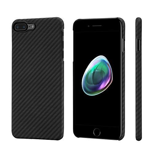 pitaka Custodia iPhone 7 Plus/iPhone 8 Plus Cover per iPhone 7 Plus/iPhone 8 Plus Apple Ultra Slim Sottile Resistente in Fibra Aramidica Serie MagEz Case Elegante Cover Magnetica Supporto Auto