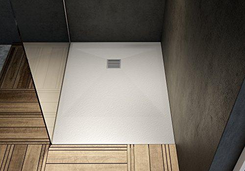 CSI SAS RECZ100-70/0200101 Receveur de douche extra plat avec grille/bonde 100 x 70 Anthracite