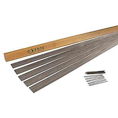 "Coyote Landscape Products 5 Piece Steel Home Kit Raw Steel Edging with 15 Edge Pins, 4"" by 8', 18-Gauge"