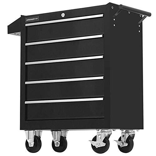 HIGHKAS 5 Schubladen Roller Werkzeugschrank Aufbewahrungsbox Werkstatt Garage Garage Rollwagen W/Griff Garage Lagerung Rollwagen Dollies
