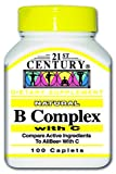 21st Century B Complex with C Tablets, 100 Count