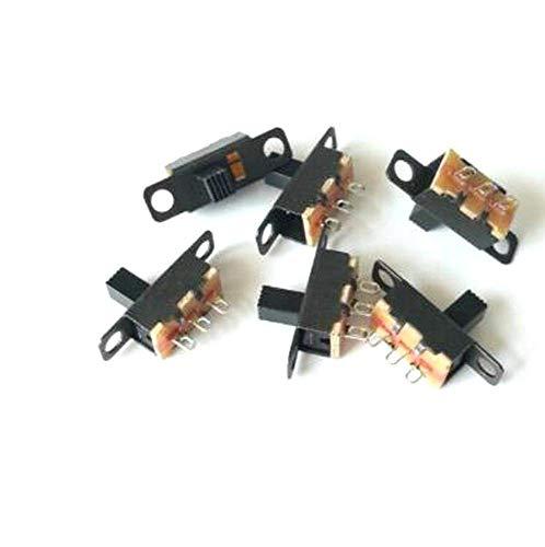 250 unids/Lote SS12F15 Interruptor de Palanca 1P2T SPDT 3PIN SS-12F15 Interruptores deslizantes Mango de 4 mm