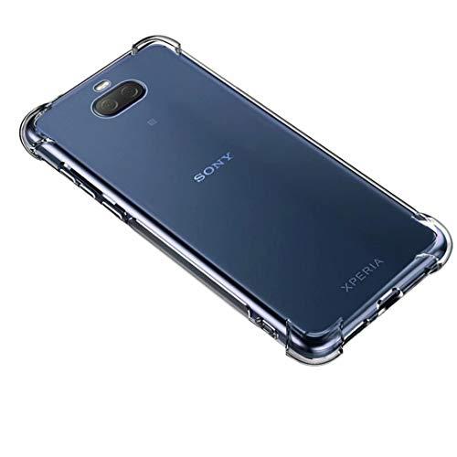 HUUH Cover per Sony Xperia 10 Plus,Custodia Cellulare TPU Altamente Trasparente,Nessuna deformazione,Resistente,Quattro Angoli addensati,Custodia del Telefono Anti-Goccia