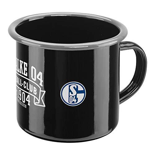 FC Schalke 04 Emaille Tasse (one size, schwarz)