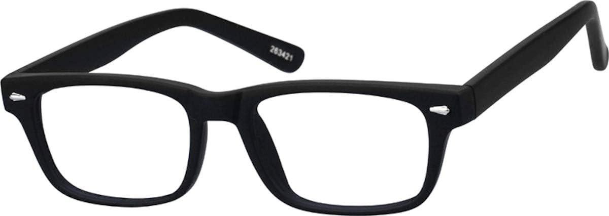 Zenni - Blokz Blue Blocker Computer Glasses for Kids | UV Filters Reduce Eyestrain | Black Plastic Frame | Rectangle Fit | Model 263421