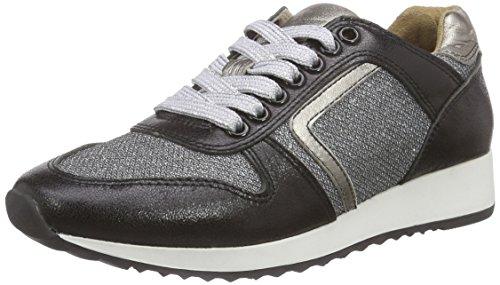 Laufsteg München Damen FS162001b Sneakers, Schwarz (Black Glitter), 37