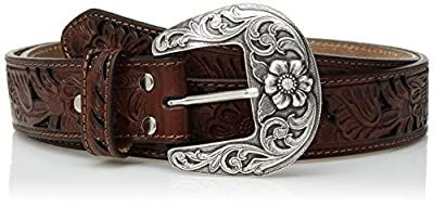 Nocona Belt Co. Women's Tone Tan Filagree Belt, brown, Small
