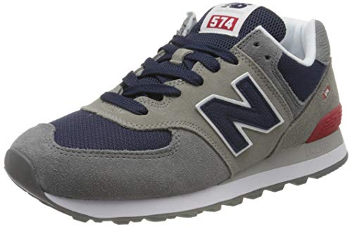 New Balance 574v2, Baskets Homme, Gris (Grey/Navy Ead), 43 EU