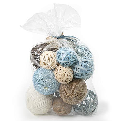 ANDALUCA Decorative Vase Filler Bag with Orbs, Balls (Aqua Blue)