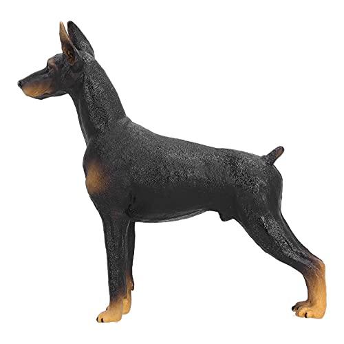 Gaeirt Simulazione Giocattolo per Cani, Durevole Cane in Miniatura da Collezione Statua di Cane Doberman Simpatico Modello Animale di Simulazione per Bambini