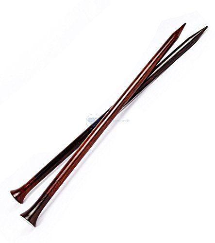 Nagina International 14  Rosewood & Maple Crafted Premium Yarn Knitting Needles   Stitching Accessories & Supplies (Rosewood, US Size 50-25mm)