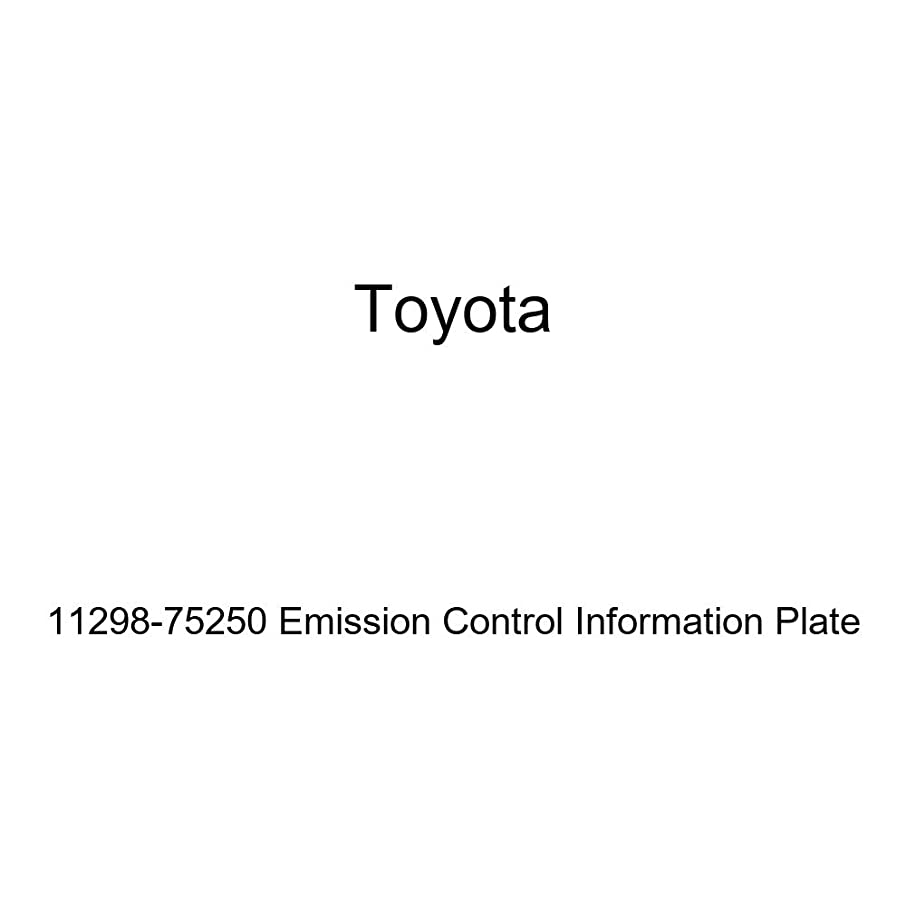 Genuine Toyota 11298-75250 Emission Control Information Plate