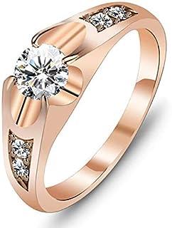 خاتم نسائي مطلي بالذهب مقاس 7 أمريكي خاتم نسائي مطلي بالذهب مقاس 7