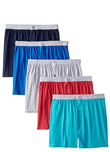 Fruit of the Loom Solid Knit Boxers 3-Pack (kleuren en patronen kunnen variëren) (XX-groot, gesorteerd)