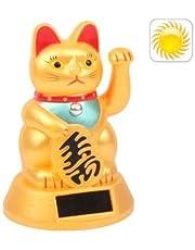 Tuzi Qiuge Accionada Solar Que agita Gato de la Suerte