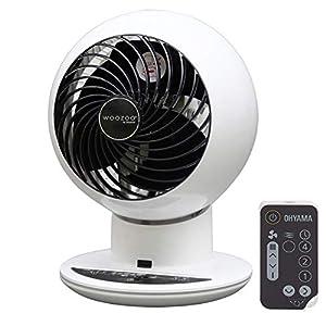 Iris Ohyama 531373 Woozoo - Ventilador silencioso, oscilante y ultra potente con control remoto - PCF-SC15T, 38 W, 30 m², blanco, 21 x 21 x 29 cm