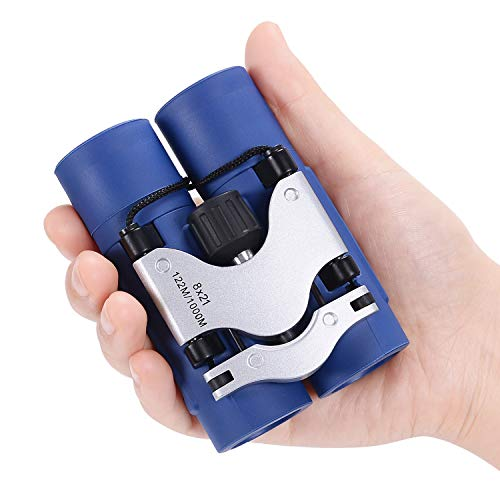 AQUAJOY Child Mini Binoculars Best Gifts Toys for 3 4 5 6 7 8 9 10 11 12 Years Boys Girls Kids Teens Adult Folding Small Binoculars for Bird Watching, Travel, Camping, Hiking, Hunting, Sport Games