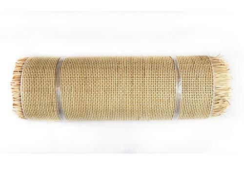 Birdikus Rejilla de Mimbre para la reparación de sillas de la máxima Calidad, Grado A, Cuadrada 2x2mm, Rejilla Vegetal tireta de Junco (60x100 cm)