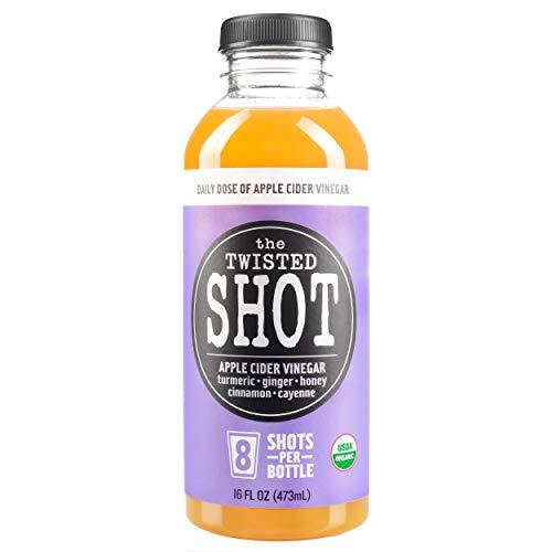 The Twisted Shot | Organic Apple Cider Vinegar Shots with Turmeric, Ginger, Cinnamon, Honey & Cayenne | Immunity Boost | Wellness | Digestive Aid | Improve Metabolism | Detox | 16oz Bottle