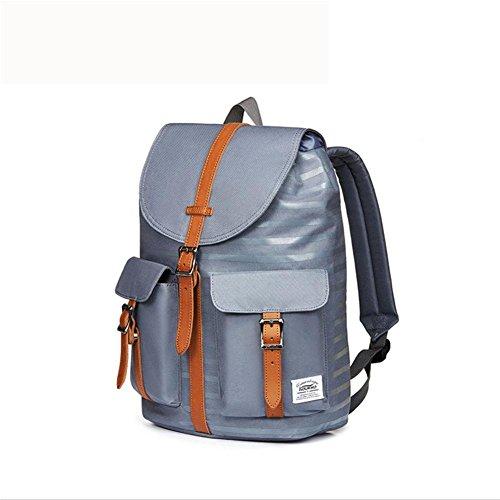 beibao shop Backpack -Leisure Nylon Rucksack Backpack Sac à Dos Poids léger Imperméable École des Sacs avec Ordinateur Compartiment, Blue