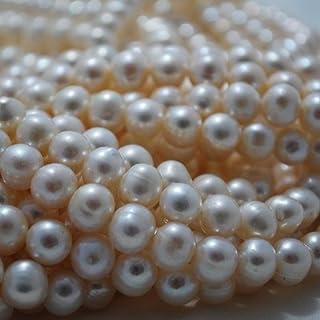 15  Strand Natural Freshwater Pearl Beads Round     Potato Weiß Grade B 8 - 9mm (Approx 48 - 55 beads) B00KS9XELA  Bestseller 877fcf