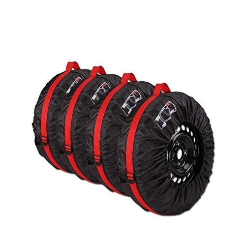 CROSYO 4pcs Cubierta De Neumáticos De Repuesto De Poliéster Invierno De Verano Neumáticos De Coche Bolsa De Almacenamiento Accesorios De Neumáticos De Automóviles Protector De Rueda De Vehículo S/L