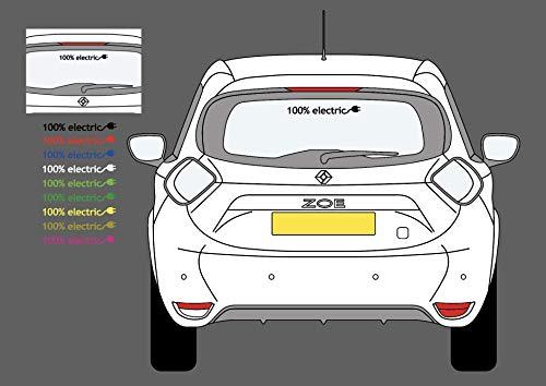 Graphic Worx Renault Zoe 100% Elektro Aufkleber - Red 30cm x 3.4cm
