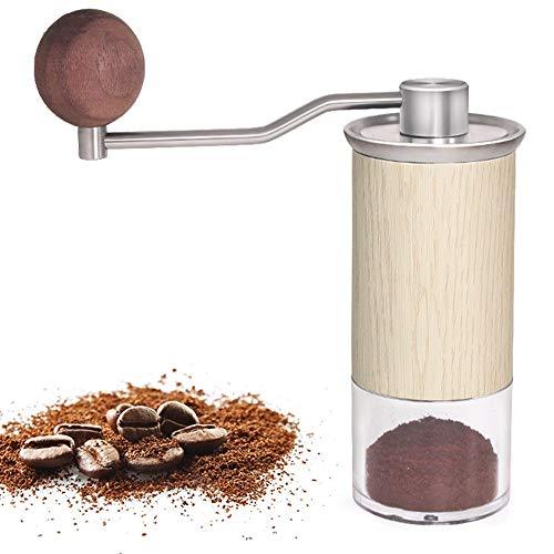 NCBH Italiaanse mini-koffiezetapparaat, reis compacte espressomachine koffiemachine, kleine draagbare handpresso hybride retro voor thuis buiten en op kantoor
