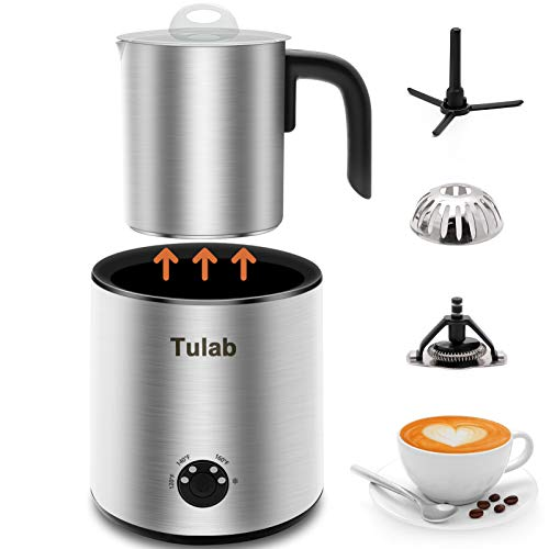 Electric Milk Frother Automaitc Milk Warmer with temperature control Stain Steel Detachable Milk Jug Silent Foam Maker Dishwasher safe for Latte Coffee Hot Chocolates Cappuccino 101 oz/51 oz