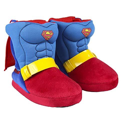 Marvel Superman Zapatillas de Estar por Casa para Niños, Pantuflas Suaves, Cálidas y Acogedoras, Zapatillas 3D Súper Divertidas, Diseño Fácil de Poner, Regalo para Niños! Talla 30/31