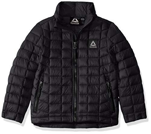 Reebok Boys' Little Active Outerwear Jacket (More Styles Available), Classic Black, 5/6