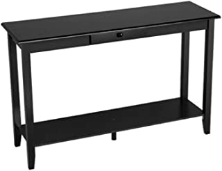 Seleq MDF & Wood Console Table with Drawer and Shelf 48