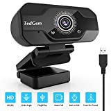 webcam, tedgem 4k/1080p full hd webcam pc avec microphone usb live streaming caméra webcam pour appels vidéo et enregistrement, gaming, petit/flexible/réglable, compatible avec windows, android, linux