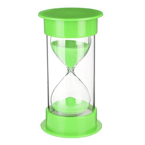 GOZAR 30Min Minuti Sabbia Vetro Clessidra Clessidra Timer Orologio Home Decor - Verde