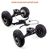 L-faster Mountainboarding Skateboard Trucks Offroad Boarding Truck Mit Bremse All Terrain Skateboard Longboard Bremssystem (Brake with normal)