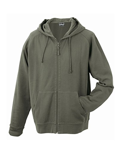 2Store24 Men's Hooded Jacket in Olive Size: XL