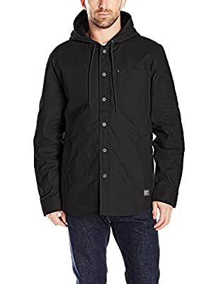 Timberland PRO Men's Gridflex Insulated Hooded Shirt Jacket, Jet Black, Medium from Timberland PRO Apparel