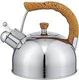 Riyyow Creatividad Kettle inducción Gran Capacidad silbido Caldera Acero Inoxidable hervidor de Gas Halls de cerámica de Gas Tetera casa Cocina Camping (Size : 5L)