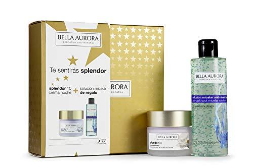Bella Aurora - Pack Splendor Noche 50ml + Solucion Micelar 200ml | Caja de Regalo | Anti-edad | Tratamiento Anti-arrugas | Antimanchas
