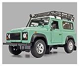 Diecast Model Coche 1:24 para tierra para Rover para defensor Modelo de aleación de automóviles Diecasts Vehículos de juguete Recolecta Regalos Transporte Toy Diecast Vehículo (Color: Verde) wmpa