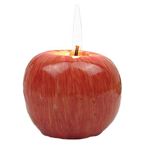 BSTTAI Candela a Forma di Mela, Candele Dolci Natalizie Candele Natalizie Regali Candela Natalizia a Forma di Mela Rossa Candela di Compleanno Lampada