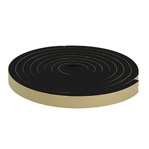 ニトムズ 屋外用防水すきまテープ ハードタイプ 簡単補修 耐久 消音 台風対策 玄関 物置 幅12mm×長さ2m×厚さ7mm 1巻入 黒 E0080