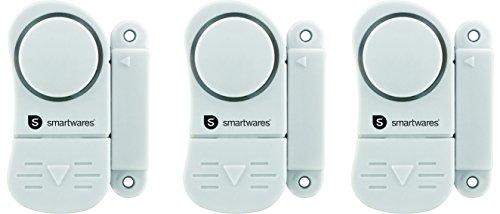 Smartwares 10.017.13 (SC07/3) Alarmas para Puertas y Ventanas, Blanco, Set de 3 Piezas